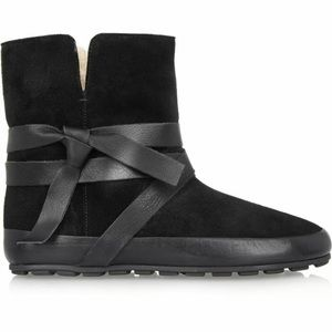 ISABEL MARANT ETOILE NYGEL SHEARLING BOOTS 35